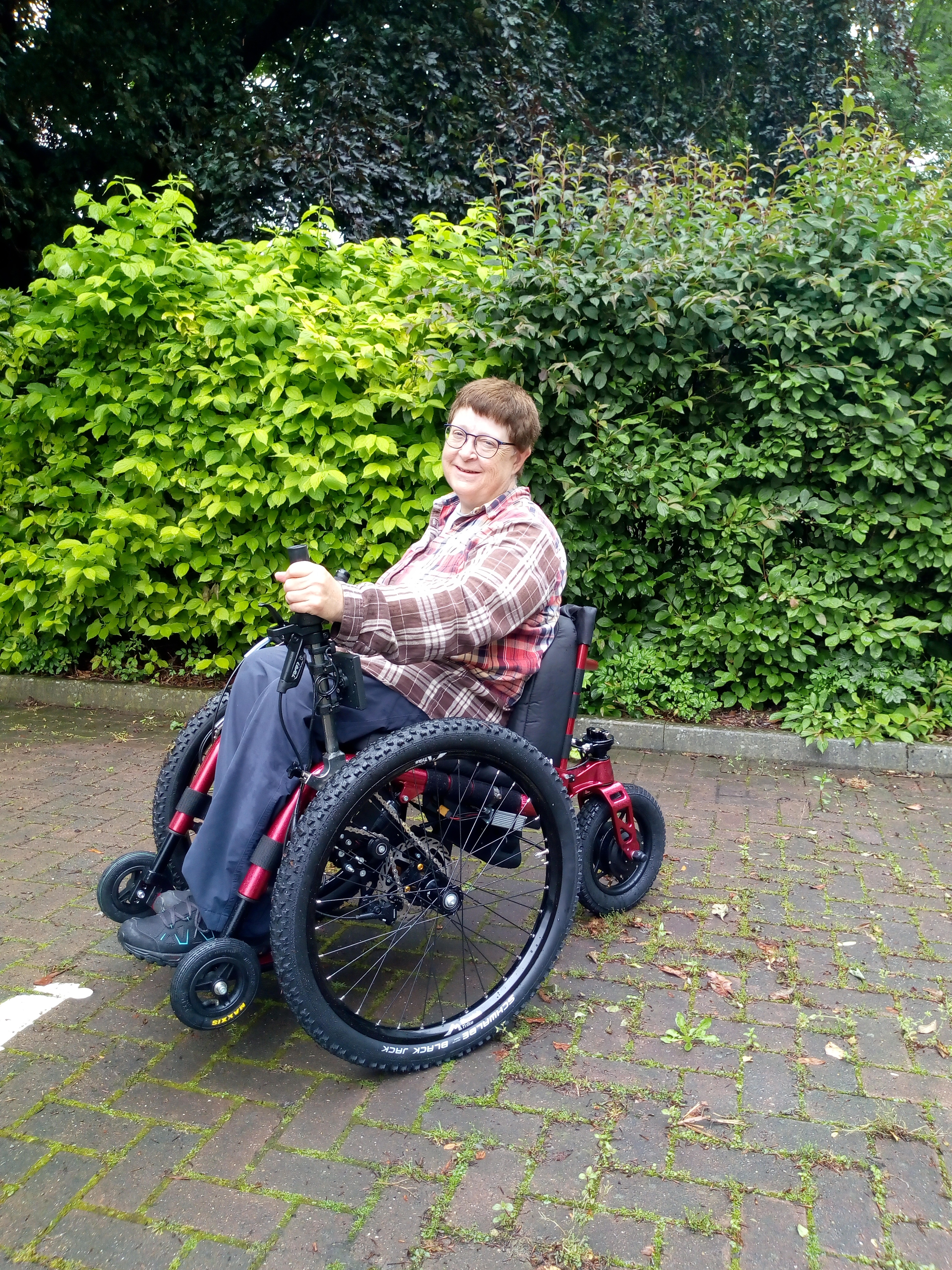 Caroline Beeson, eTrike power assist wheelchair