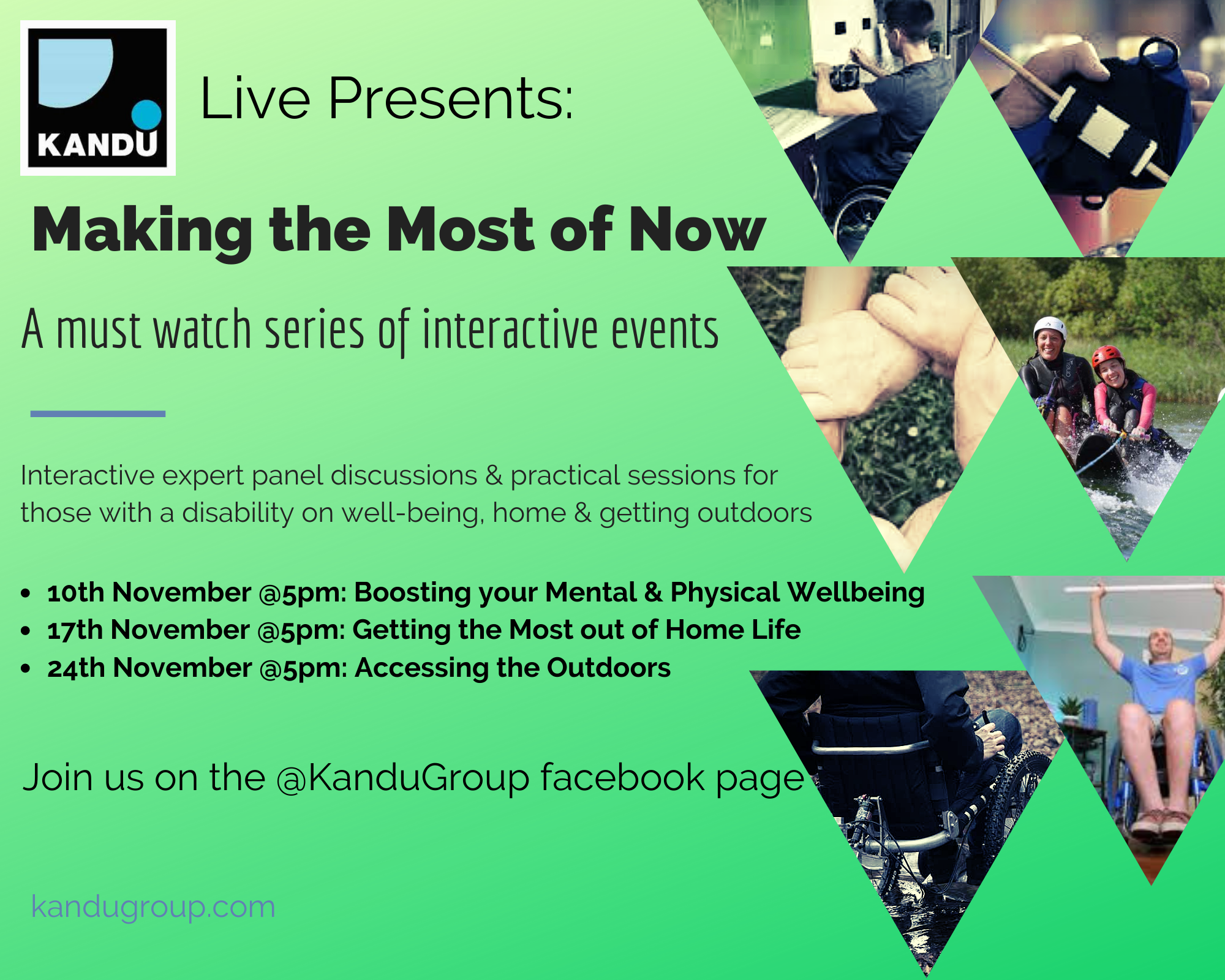 JOIN US for a series of must-watch online events this November