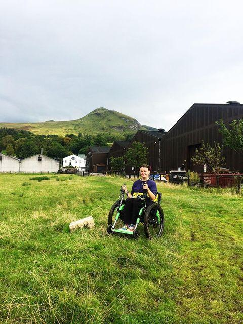 Laura May, Mountain Trike all terrain wheelchair