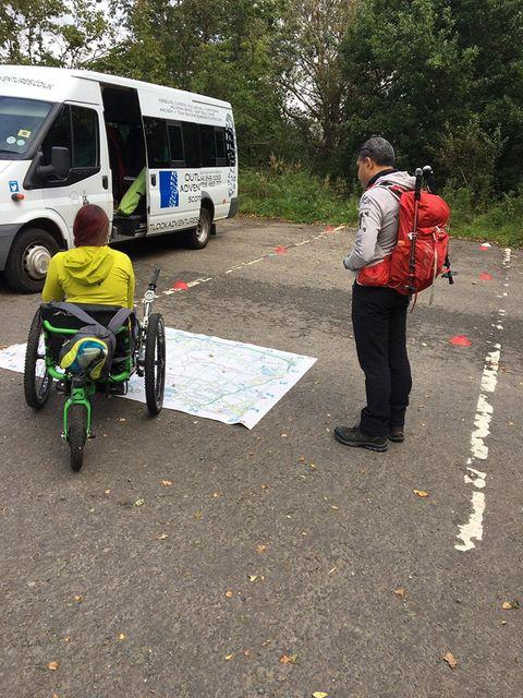 Laura May, Mountain Trike Wheelchair, Lowland Training