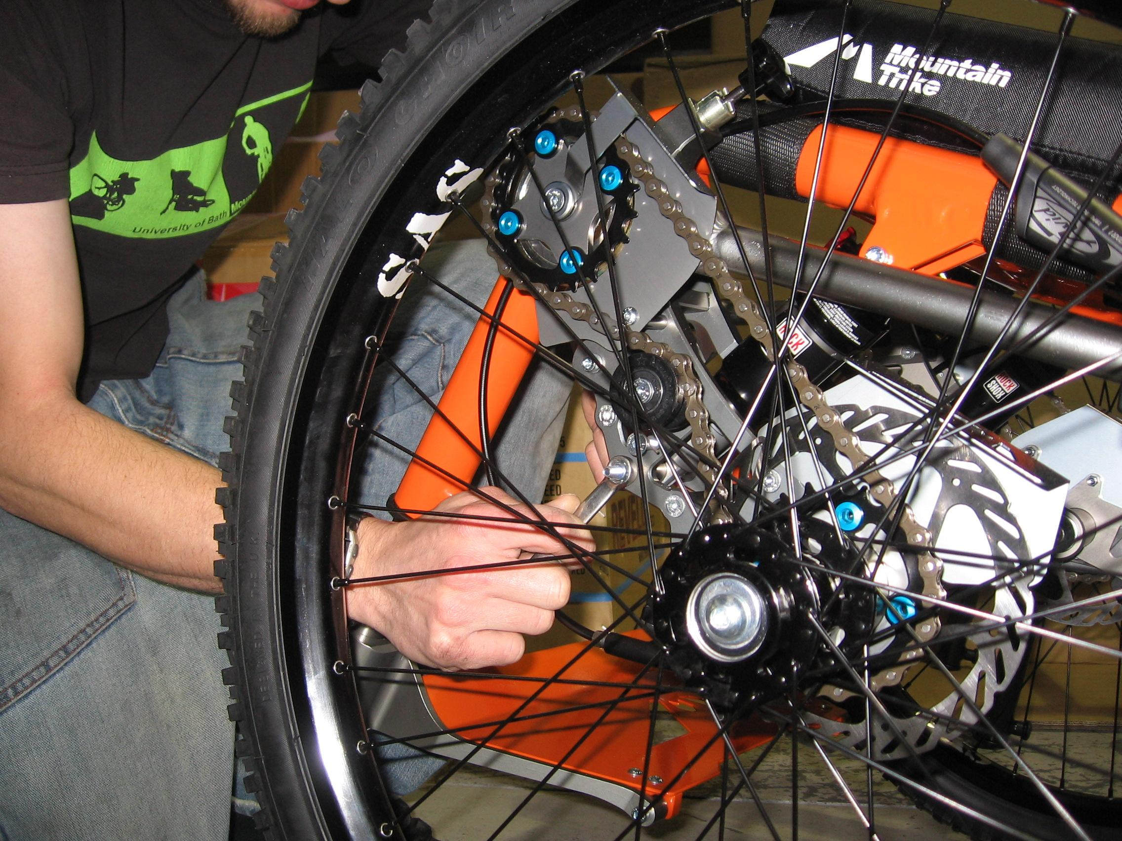 Changing the gearing ratio on your Mountain Trike all terrain wheelchair