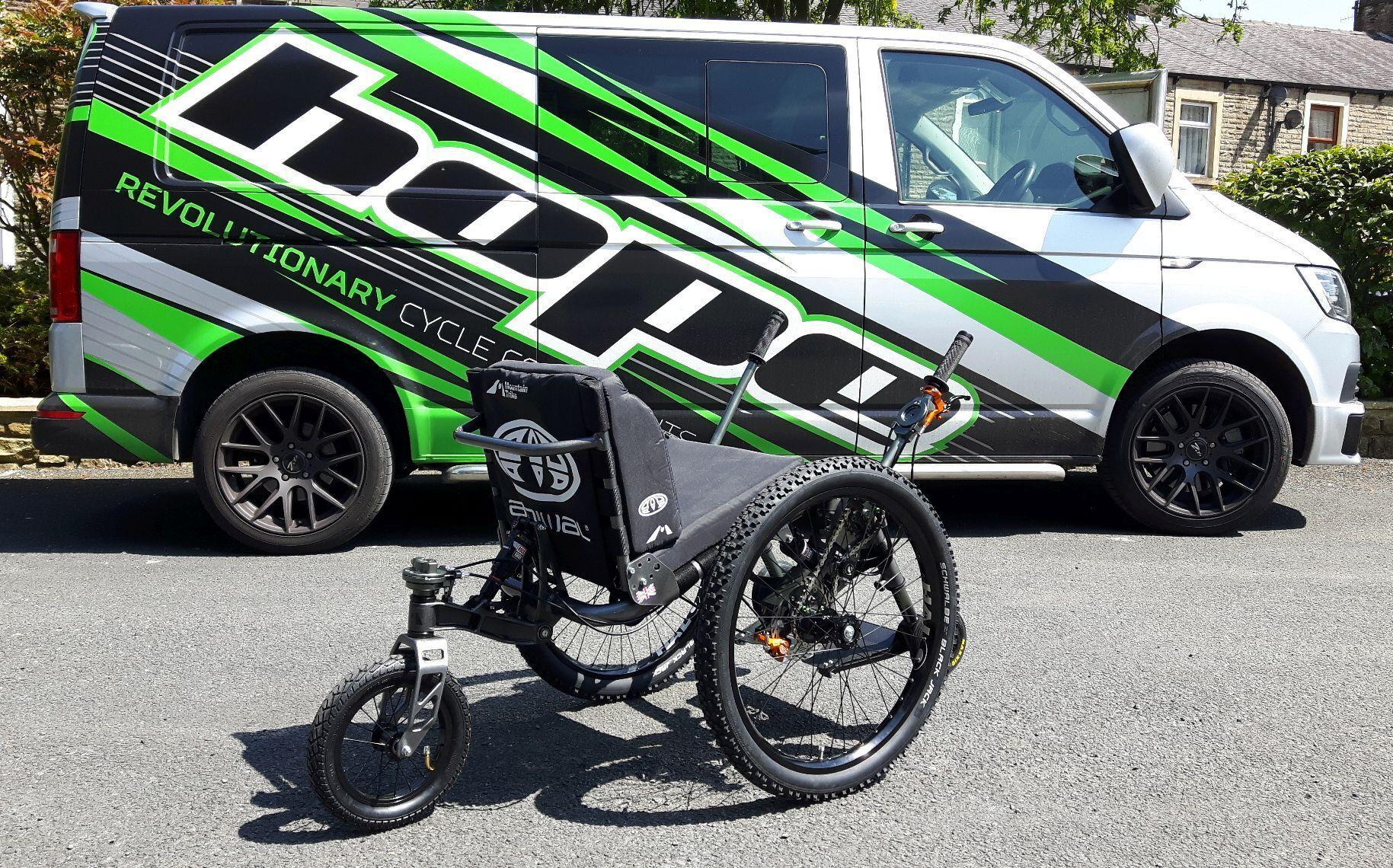 Personalised all terrain Mountain Trike wheelchair…   Mountain Trike