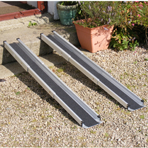 Non-slip wheelchair ramps