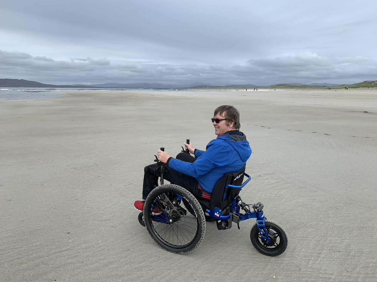 Customer review: Off-road capability of the Mountain Trike all terrain wheelchair is phenomenal.