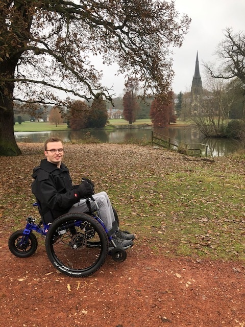 Ryan Holford, UK, National Trust employee, test rides the eTrike