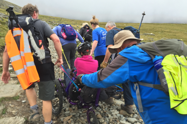 Snowdon Shove 2016 - the Support Dog Team's climb with a Mountain Trike wheelchair