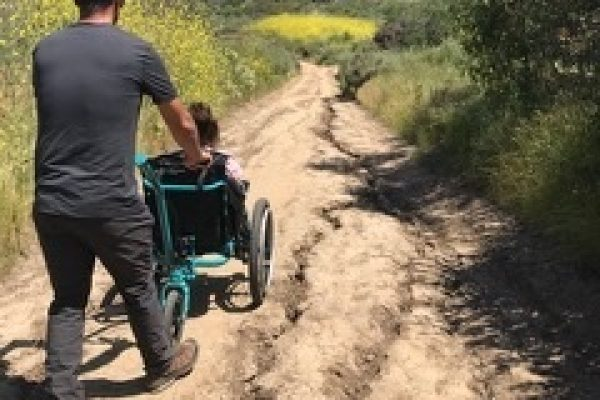 MT Push all terrain wheelchair trail riding