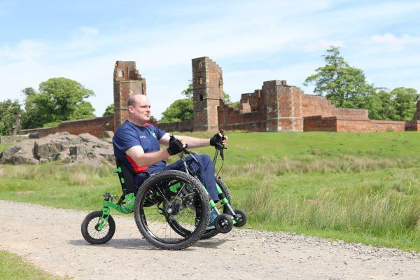 David completes three-peaks challenge in all terrain wheelchair