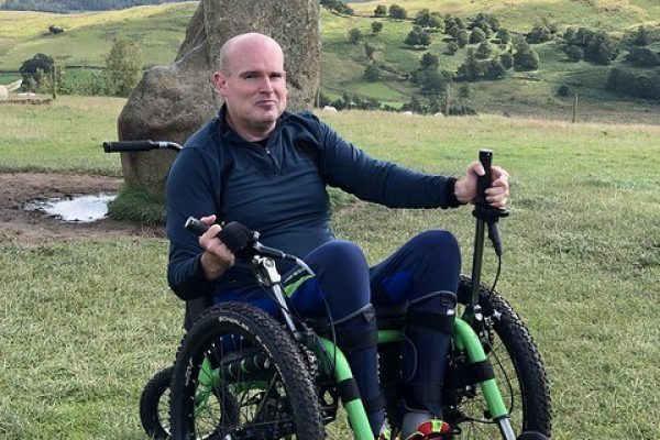 Mountain Trike all terrain wheelchair rises to the latest off-road challenge with customer David Needham