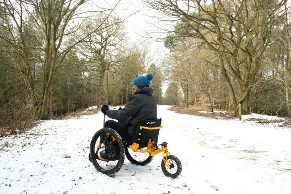 Mountain Trike all terrain wheelchair snow ride