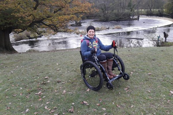 Mountain Trike all terrain wheelchair 'Max' opens up Jane's world