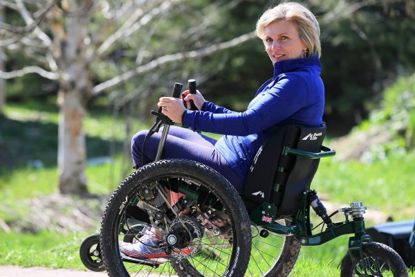 Canadian Mountain Trike wheelchair customer, Julie talks about living with paralysis