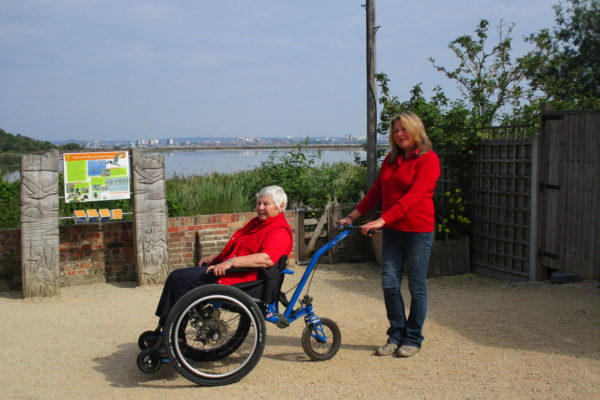 The MT Push, All Terrain Wheelchair now available at National Trust Brownsea Island