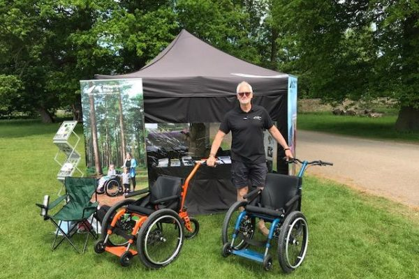 Mountain Trike all terrain wheelchair company attend annual National Trust festival