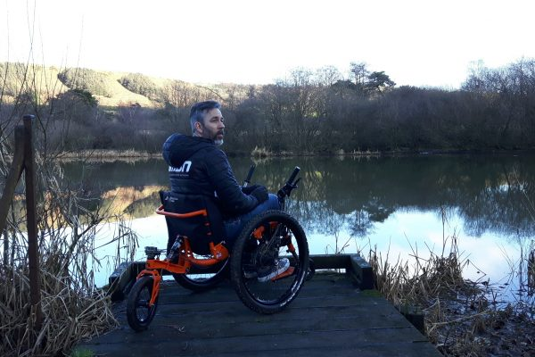 Martyn Ashton test rides the Mountain Trike wheelchair