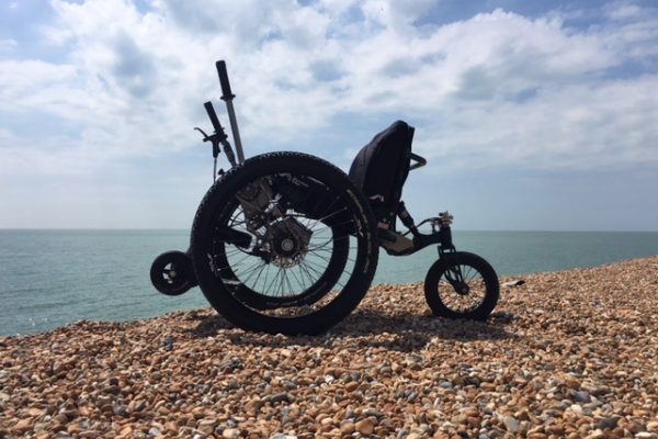 Cinque Ports Mobility test ride the Mountain Trike all terrain wheelchair