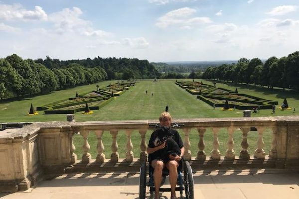 MT Push, all terrain attendant wheelchair demo at National Park Cliveden