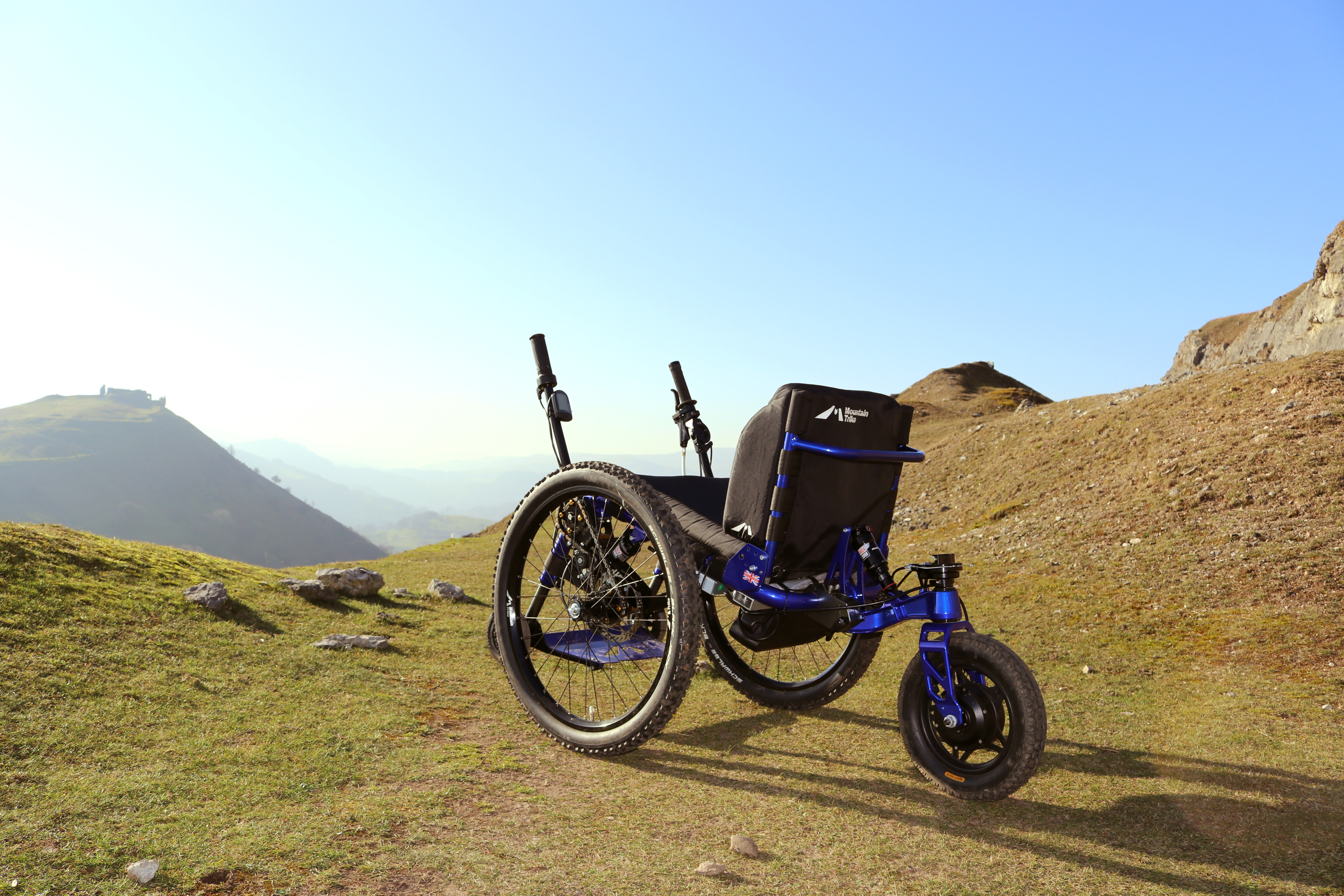 eTrike, electric power assist all terrain wheelchair