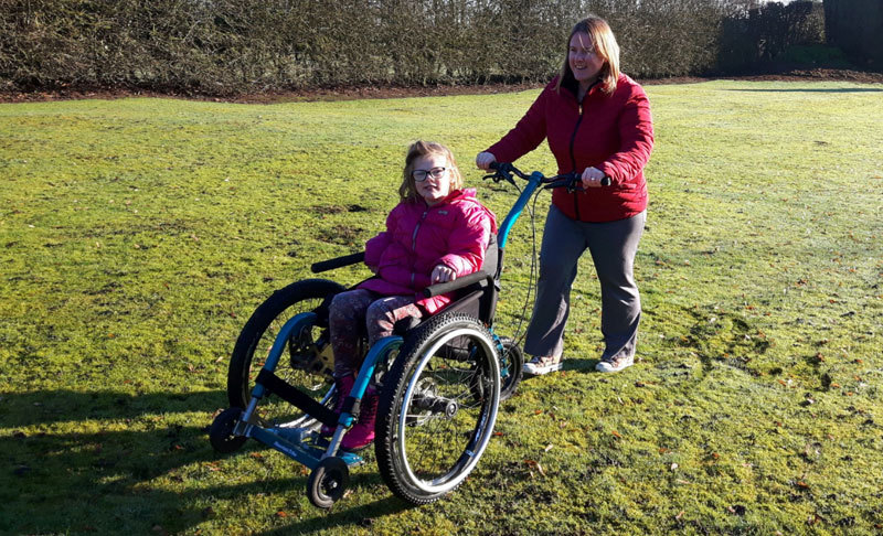 The MT Push - an all terrain attendant wheelchair that enhances both of the 'users' experience